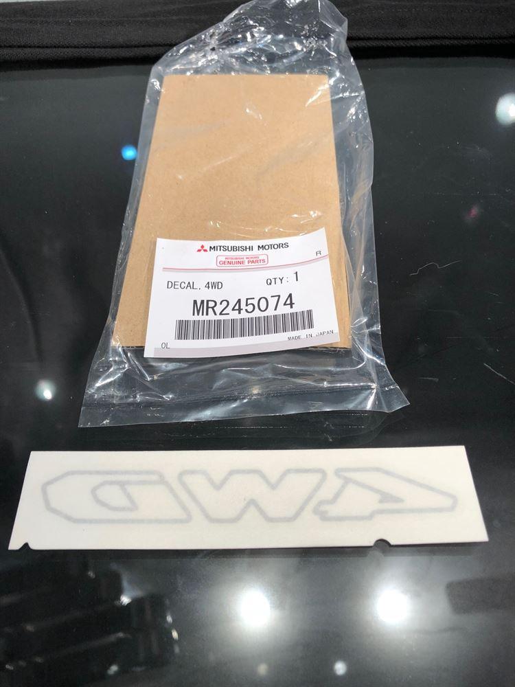 Equipment Sticker - Rear Window