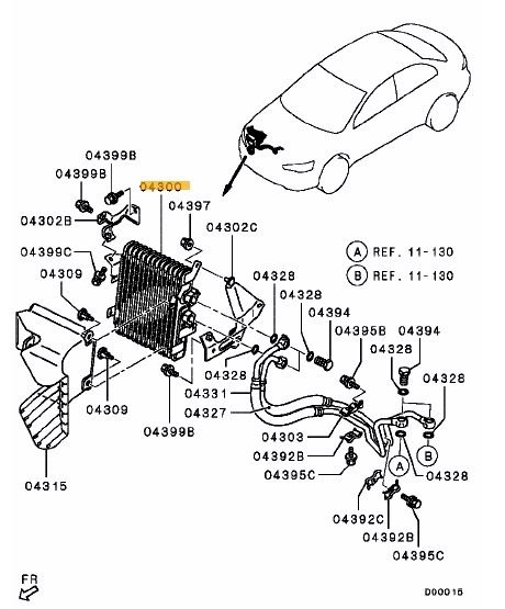 oil cooler assy evo x ross sport ltd Mitsubishi Evo 3 Engine oil cooler assy evo x