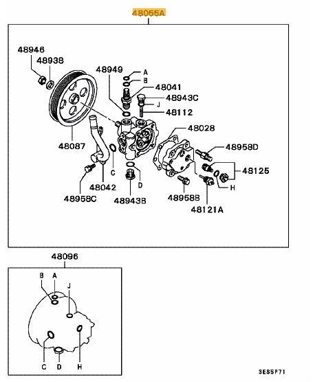 Power Steering Pump Evo 4-6