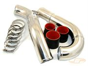 "JM Fabrications: Upper Intercooler Pipe Kit (3"", Black Couplers): Evo IV - IX"