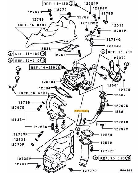Turbo Oil Return Pipe Gasket - Evo 1-10 (Yellow Paper Type)