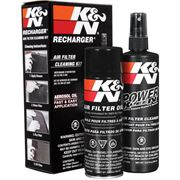 K&N: AIR FILTER CLEANING KIT (SQUEEZE BOTTLE)