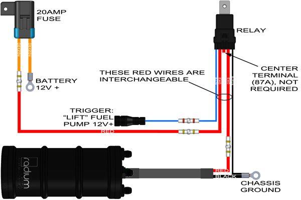 Radium: DIY Fuel Pump Wiring Kit