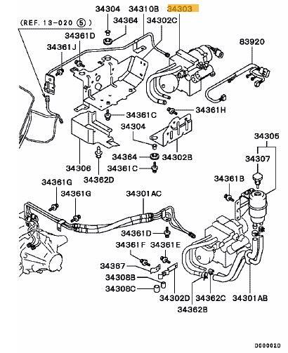 ayc pump hydraulic unit  diff control evo 7-9 gsr