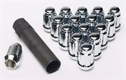 GORILLA NUTS: SMALL DIAMETER TUNER LUG NUT KIT: ACORN CHROME (20-PACK): 12MM x 1.5
