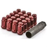 GORILLA NUTS: SMALL DIAMETER TUNER LUG NUT KIT: RED (20-PACK) M12 x 1.5